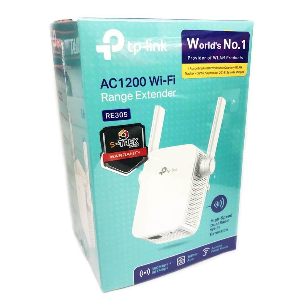ลดสุดๆ TP-LINK RE305 ประกันศูนย์LIFETIMEตัวขยายสัญญาณ ส่งKERRY AC1200 Wi-Fi Range Extender Mode และ AP Mode