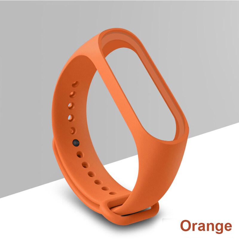 【9 สี】สาย สายเปลี่ยน สายรัดข้อมือ Wristband Strap for Mi band 3/4 Strap สายเสริม Smart Watch สายนาฬิกาข้อมือ สายรัดข้อมือซิลิโคน (เฉพาะตัวสาย) คุณภาพดี D36