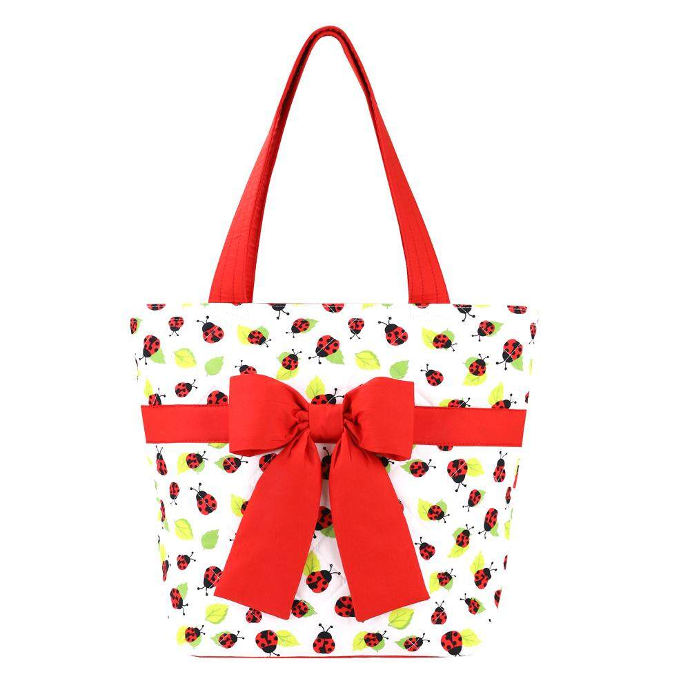 กระเป๋าเป้ นักเรียน ผู้หญิง วัยรุ่น พะเยา NaRaYa กระเป๋าสะพายก้นมนพร้อมโบว์ รุ่น Ladybug Collection