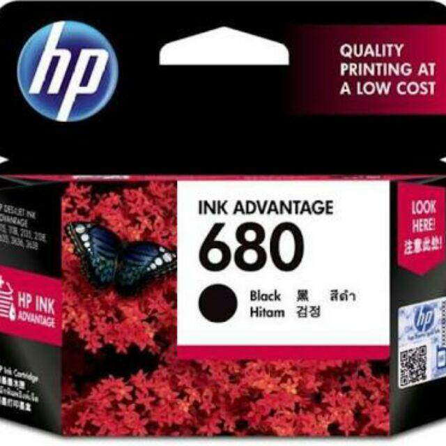 เก็บเงินปลายทางได้ หมึกอิงค์เจ็ท สีดำ HP 680/BK ฟรีค่าจัดส่ง Kerry Express ส่งด่วน