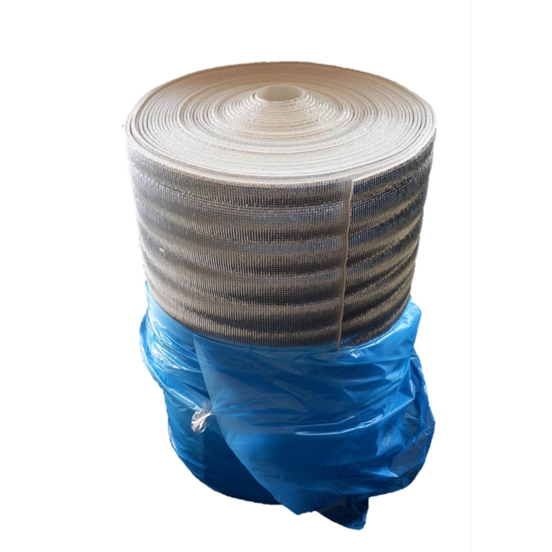 ฉนวนกันความร้อน PE เคลือบฟอยล์ลดความร้อน หนา 5mm กว้าง 90cm ยาว 40m( ส่งฟรีKerry )แผ่นฉนวนกันความร้อน เก็บความเย็น แผ่นโฟมเคลือบฟอยล์ PE(Polyethylene) ขนาด 5mm x 90cm x 40m