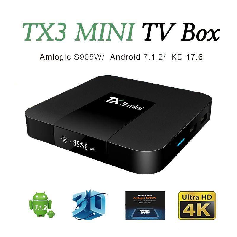 ยี่ห้อไหนดี  ลำปาง Android TV Box TX3 Mini กล่องแอนดรอย ดูหนังฟังเพลง พร้อมแอพพริเคชั่นมากมาย Android 7.1 Ram 2GB/16GB