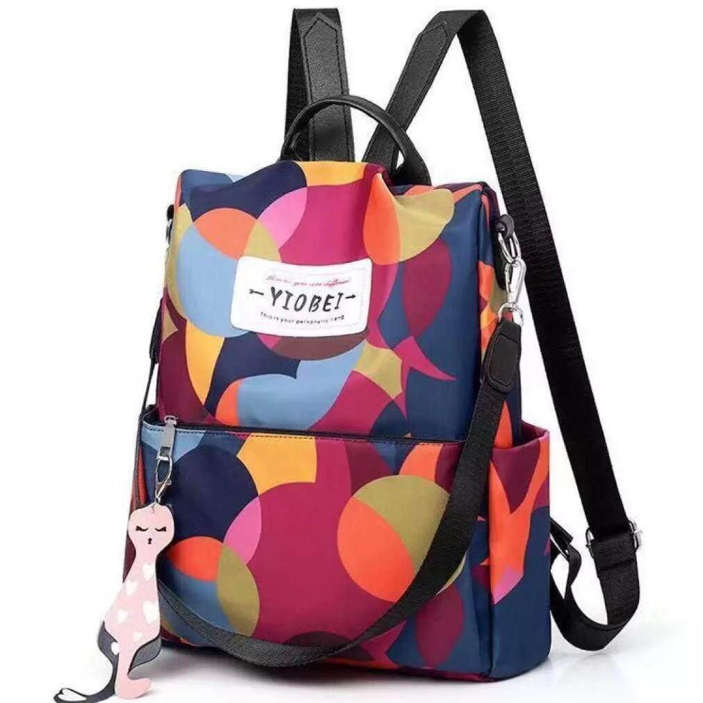 กระเป๋าเป้ นักเรียน ผู้หญิง วัยรุ่น ลำพูน กระเป๋าสะพายหลังผู้หญิงลายดอกไม้ กระเป๋าสะพายสไตล์เกาหลี กระเป๋าสะพายโรงเรียนผู้หญิง Oxford Daypack Anti น้ำหนักเบา   V0990