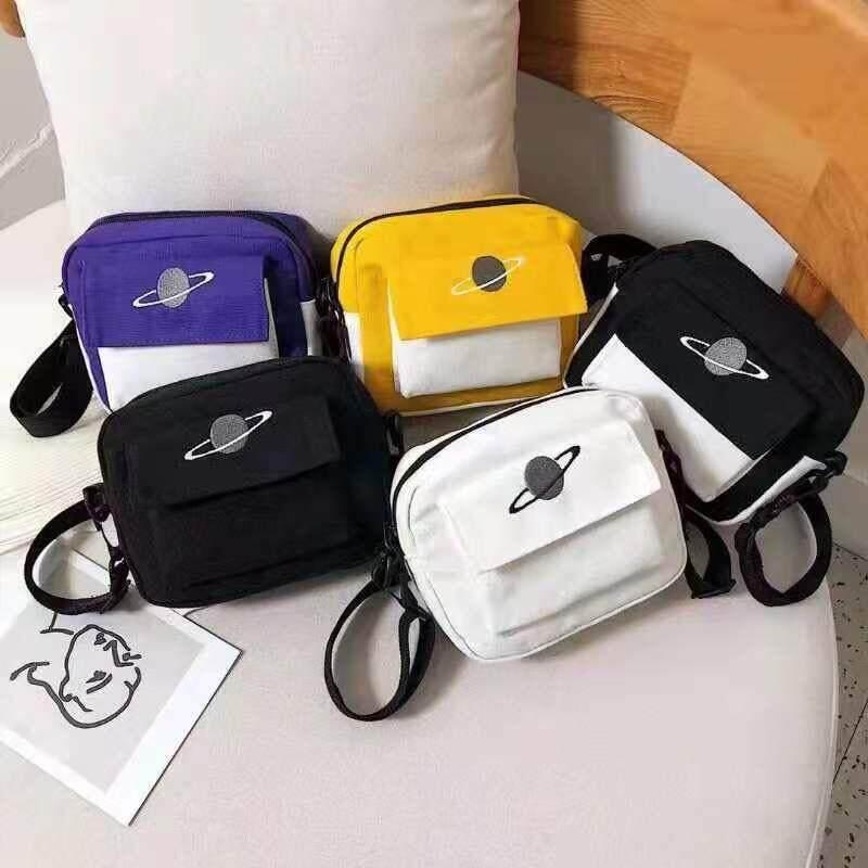 กระเป๋าสะพายพาดลำตัว นักเรียน ผู้หญิง วัยรุ่น สิงห์บุรี กระเป๋าสะพาแฟชั่น อินเทรนด์ งานน่ารักมาก