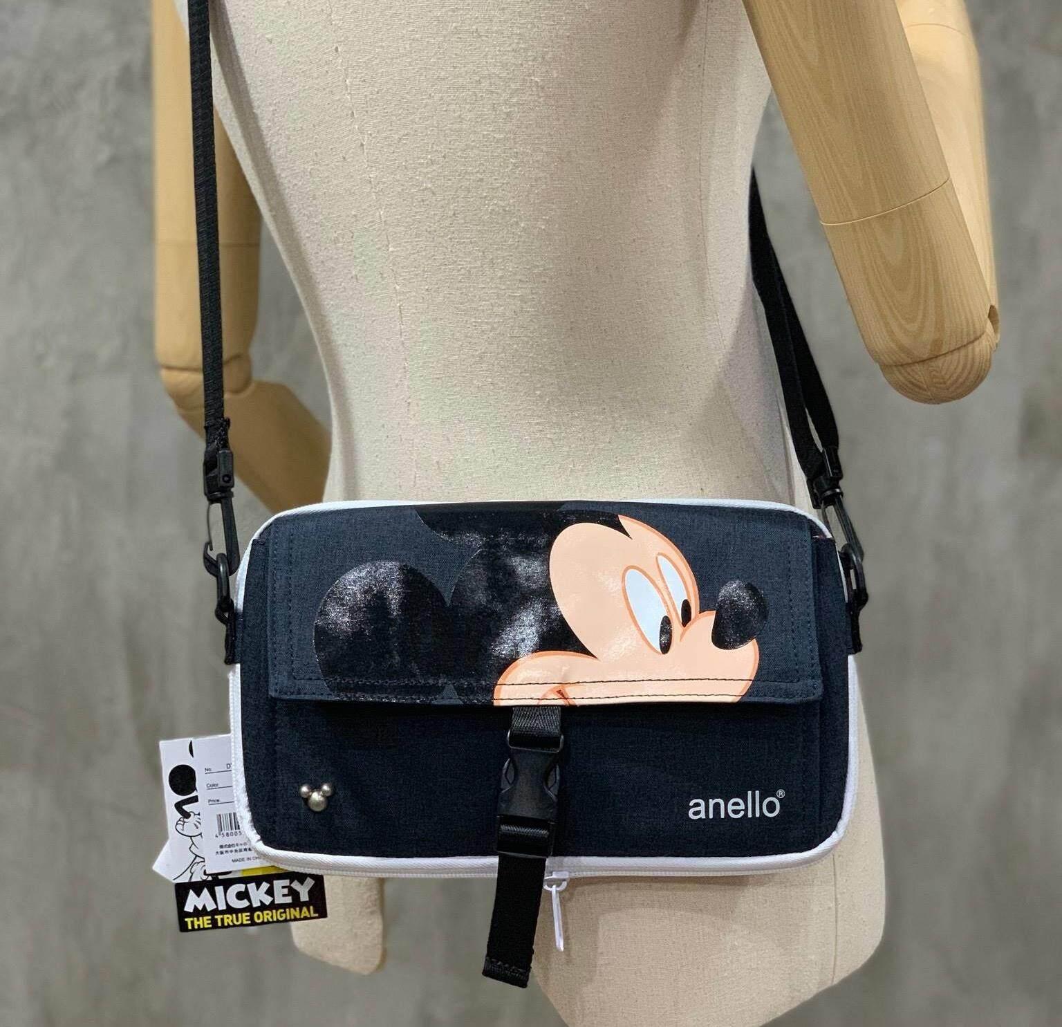 สินเชื่อบุคคลซิตี้  แม่ฮ่องสอน ANELLO MICKEY LIMITED EDITION DT-G003 กระเป๋าสะพายสุดเท่ วัสดุผ้าโพลีเอสเตอร์ (ของแท้จากโรงงาน)