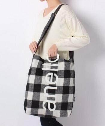 ยี่ห้อไหนดี  ชลบุรี Anello O Handle Checker 2 Way Tote Bag Handbag