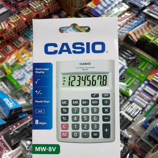 casio mw-8v สีขาว เครื่องคิดเลขตั้งโต๊ะ 8หลัก ของใหม่ ของแท้รับประกัน2ปีจากCMG
