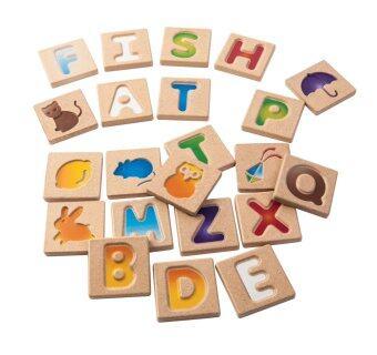 PlanToys ของเล่นไม้AlphabetA-Z (GRADIENT) เรียนรู้ตัวอักษร A ถึง Z