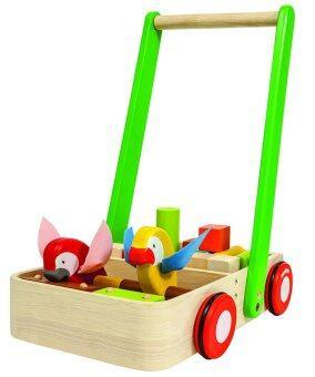 PlanToys ของเล่นไม้ Bird Walker รถเข็นไม้ เบิร์ด วอคเกอร์ รถไม้จับเดิน ฝึกการทรงตัว