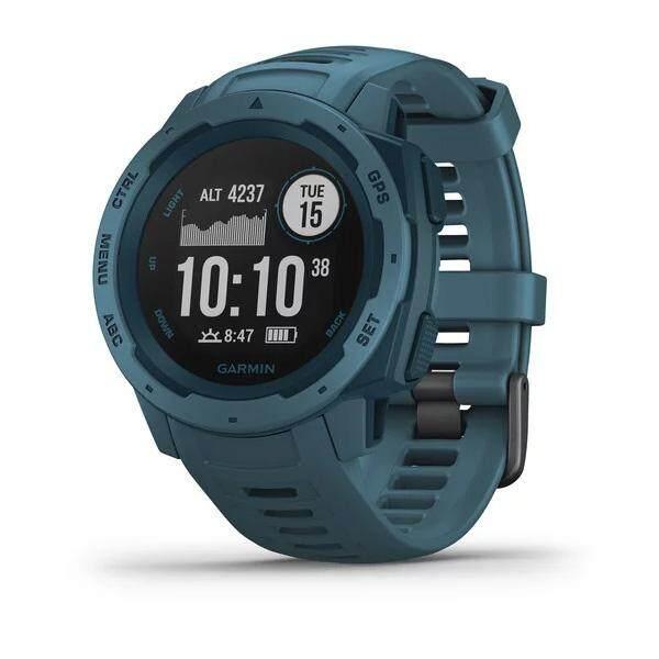 โคราช Garmin Instinct นาฬิกาจีพีเอสที่มีความทนทานถูกสร้างขึ้นให้ทนต่อสภาพแวดล้อมที่ยากลำบากและสมบุกสมบันที่สุด (Lakeside Blue)