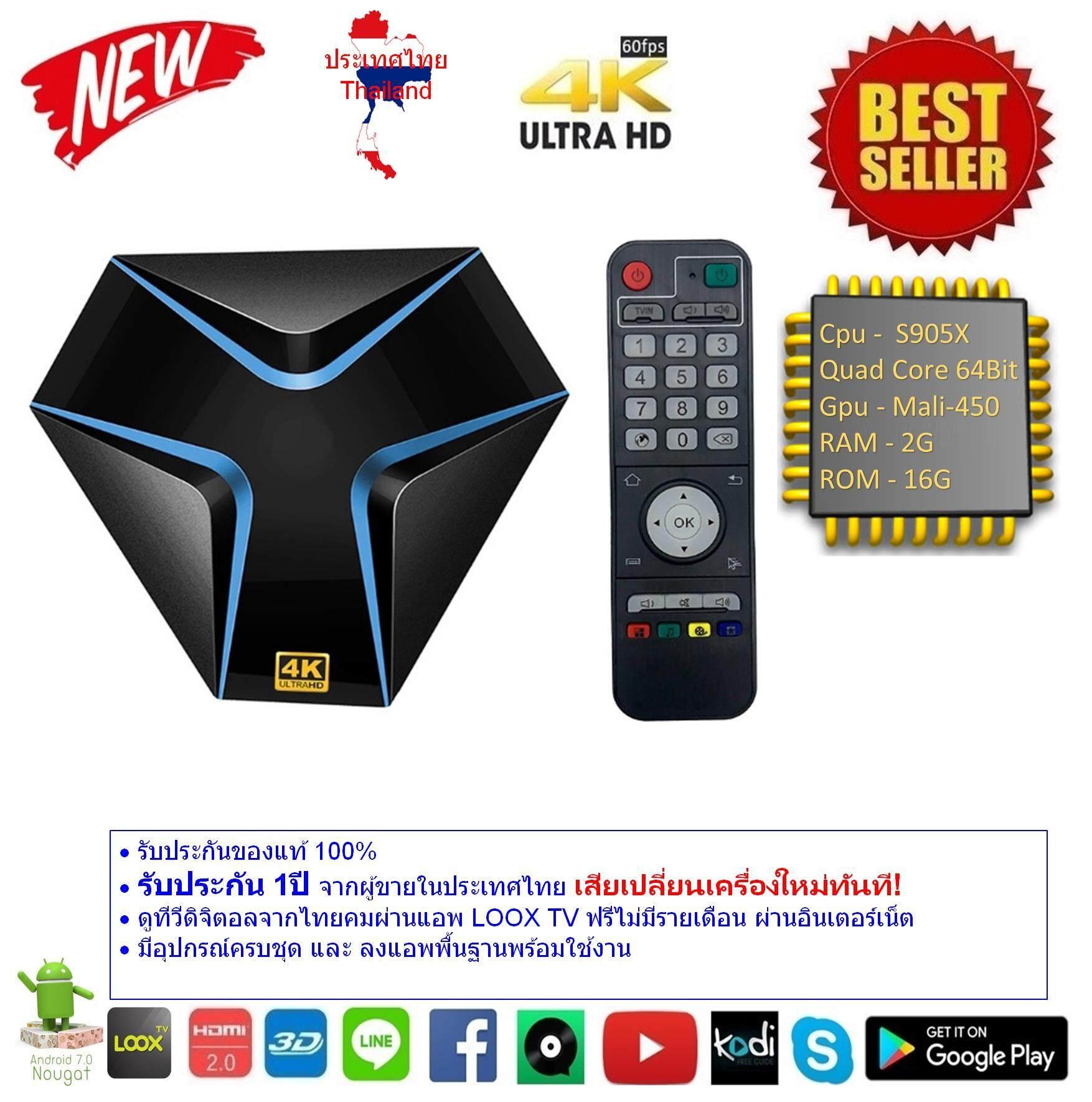 สอนใช้งาน  บุรีรัมย์ Android Smart TV Box Magicsee Iron Cpu S905X RAM 2G ROM 16G UHD 4K Android Nougat 7.1.2