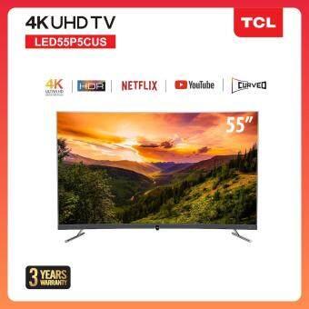 [สามารถเลือกผ่อน 0% 10 เดือนได้] TCL 55 นิ้ว 4K Curved UHD Smart TV (รุ่น 55P5CUS) -HDMI-USB-Net.flix &Youtube สมาร์ททีวี จอโค้ง
