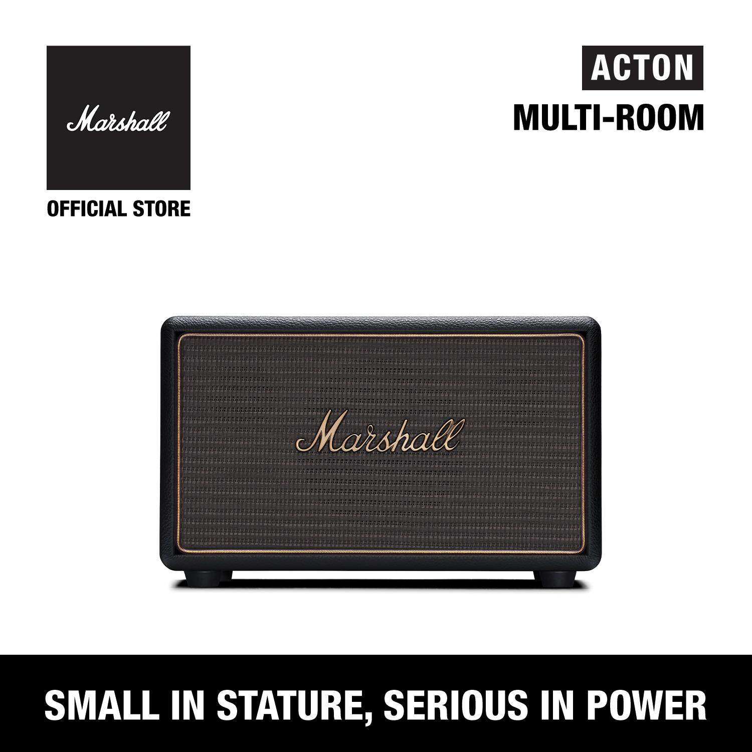 สอนใช้งาน  ลำโพงบลูทูธ Marshall Acton Multi-Room Black - Marshall Acton Multi-Room Speaker Black