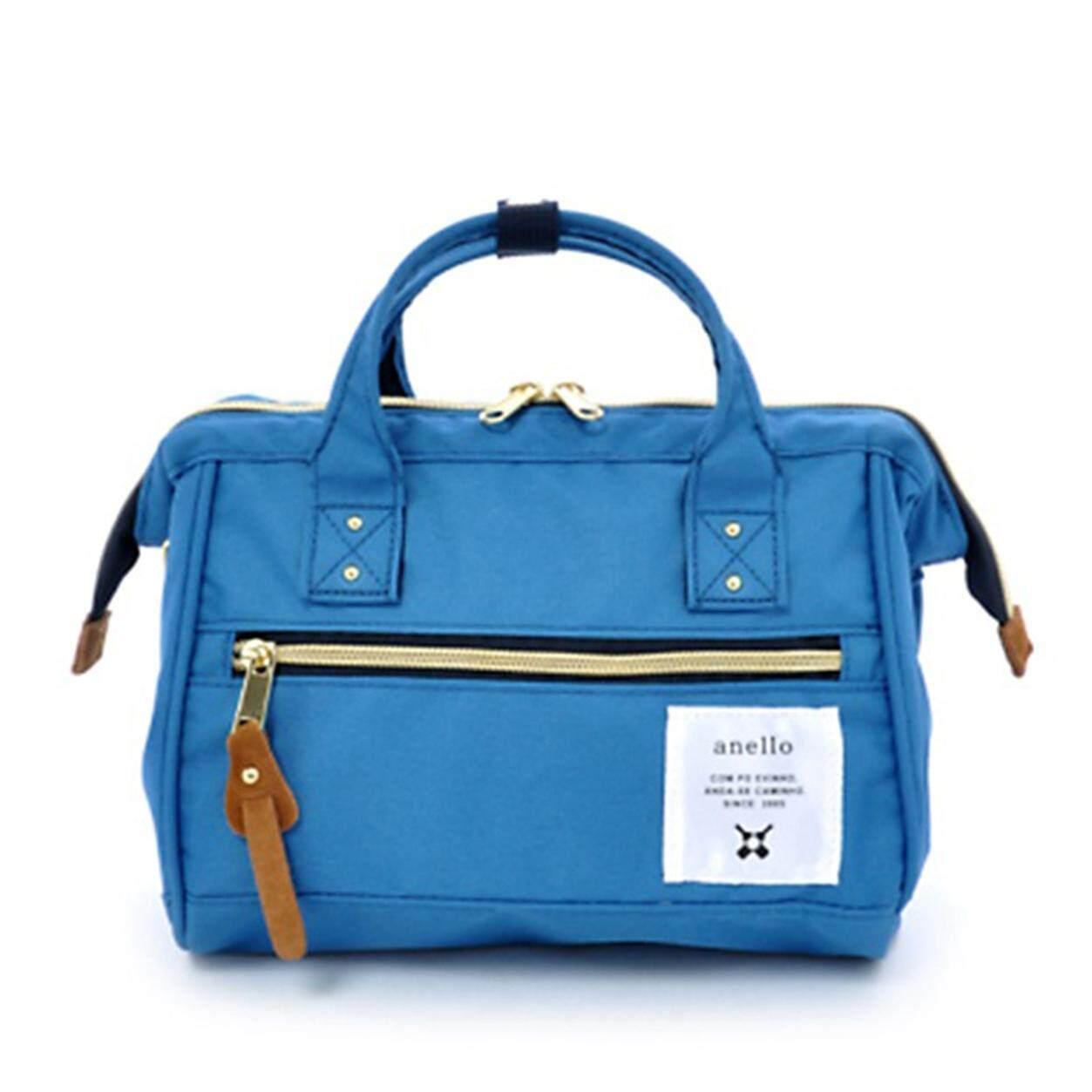 การใช้งาน  ชุมพร Anello กระเป๋าสะพาย สีฟ้า แท้100%
