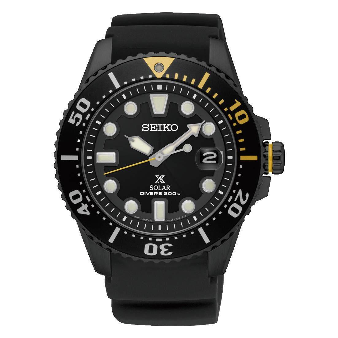 ยี่ห้อไหนดี  ลำปาง Karnvera Shop Seiko นาฬิกาข้อมือชาย Prospex Solar 200m Divers Men Watch SNE441P1