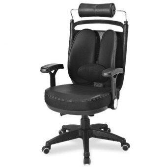 เก้าอี้เพื่อสุขภาพ เออร์โกเทรน รุ่น ดูอัล08 (Dual-08BPP) หนังพียู สีดำ