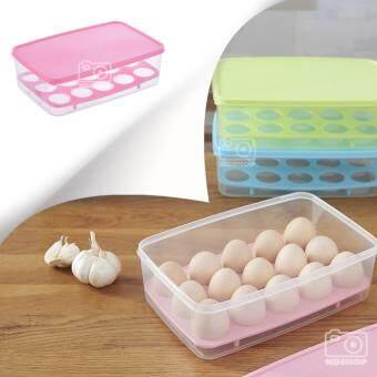 ขอเสนอ กล่องพลาสติก กล่องใส่ไข่ กล่องใส่ของเอนกประสงค์ สี่เหลี่ยม สีชมพู (1 ชิ้น)