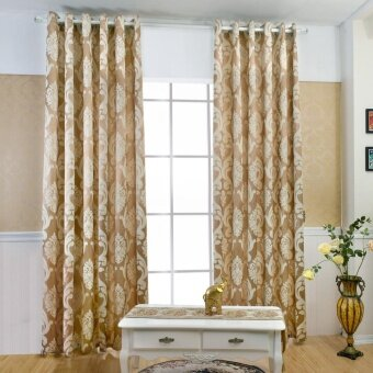 1 PCS 150x270 Geometry semi-blackout bedroom blackout fabrics curtain - intl