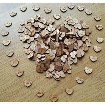 โปรโมชั่นพิเศษ อุปกรณ์ศิลปะ ของชำร่วย งานฝีมือ ตกแต่ง หัวใจไม้ 100 ชิ้น ขนาด1.2x1.5 ซม สีธรรมชาติ DIY Craft
