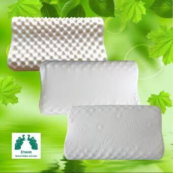 หมอนยางพาราเอราวัณ รุ่นคอนทัวร์ น็อบบี้ ผลิตจากน้ำยางพาราธรรมชาติ100% พร้อมปลอกผ้าเนื้อดี2ชั้น มีซิปซ่อน