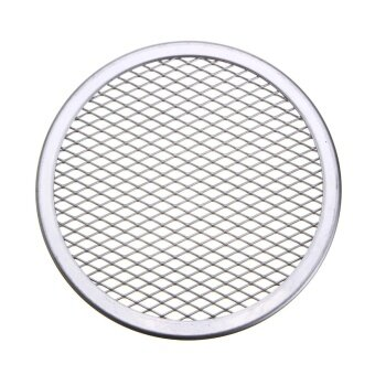 10pcs Seamless Rim Aluminium Mesh Pizza Screen Baking Tray Net Bakeware Cooking Tool 6'' - intl