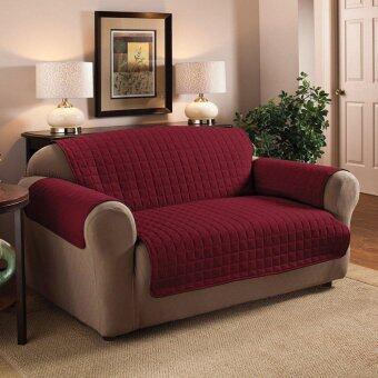 ประกาศขาย 116 x 190cm 2 Seater Quilted Slipcover Furniture Protector SofaSeat Cover Waterproof - intl