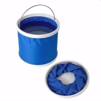 11L Fold-able Foldable Water Bucket Car Wash Water Pail FishingCamping Bucket(blue) - in ...