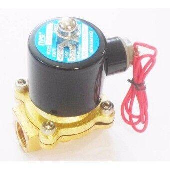 โซลินอยด์วาล์ว 1/2 นิ้ว 220VAC แบบปกติปิด จ่ายไฟเปิด ( NC )