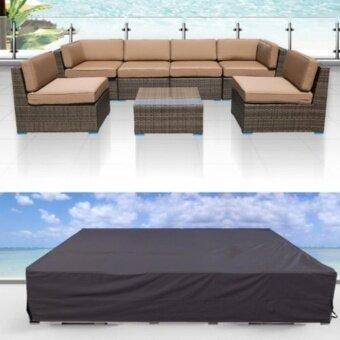 """รีวิว 124x63x29"""" Outdoor Water Resistant Garden Patio Coffe Table Desk Wooden Chair Furniture Wicker Sofa"""