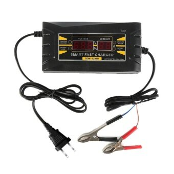 12V 6A Full Automatic Smart Fast Battery Charger For Car/Motorcycle EUPlug - intl
