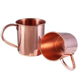 แก้วมักมอสโควมูลล์ ทองแดงแท้ 13 ออนซ์ ( Moscow Mule Mug 100% PureCopper ) ( 2 ใบ )