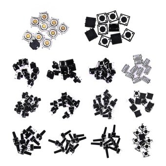 140pcs 14 Type Momentary Tactile Push Button Switch SMD AssortmentKit - intl