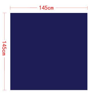 ผ้าคลุมปูโต๊ะสีน้ำเงินสำหรับงานเลี้ยง ขนาด 145 x 145 ซม. - 5