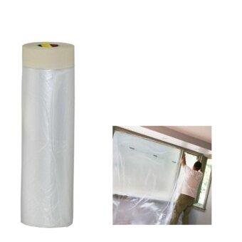 พลาสติกปิดพ่นสี ชนิดมีเทปกาวในตัว 1500 ซม x25 ม. Drape Pre-TapedMasking