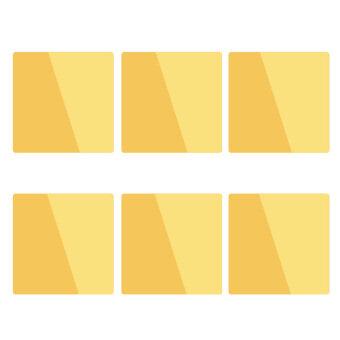 สติกเกอร์กระจกติดผนังทรงสี่เหลี่ยมตกแต่งบ้านสีทอง 15x15 ซม.