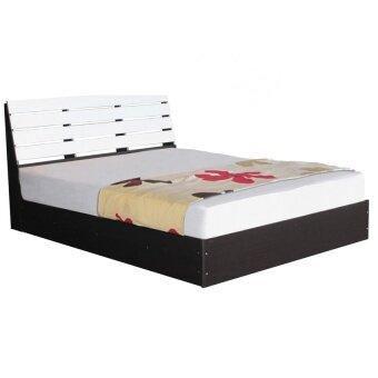 1deelert เตียงไม้หัวระแนงเมลามีน ขนาด 3.5 ฟุต รุ่น dream-3.5(สีโอ๊ก/ขาว)