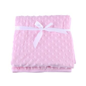 ซื้อที่ไหน 1Pc Cotton Plush Infant Baby Swaddle Blanket Kids Bathing WarmShort Towel (Pink)
