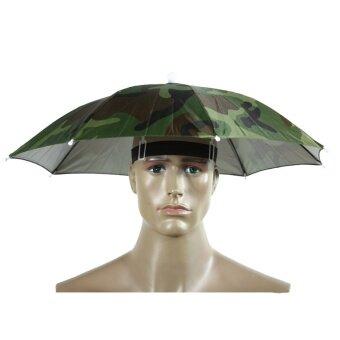 2 Color 55cm Umbrella Hat Sun Umbrella Sun Shade Camping FishingHiking Festivals Outdoor Brolly - intl