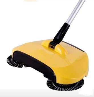 2017 New household clean Fully automatic Hand push Sweeping machineMagic broom Dustpan Combination suit