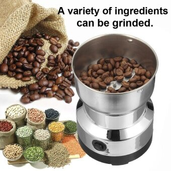 220V Electric Stainless Steel Grinding Milling Machine Coffee Bean Grinder Sliver - intl