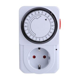 24 Hour Mechanical Plug In Programmable Timer Switch Home Security Energy Saving for Home Appliances EU Plug - intl