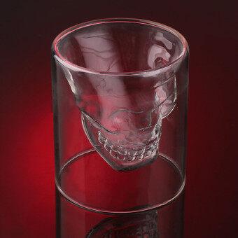 กะโหลกแก้วคริสตัลยิงหัวรูปถ้วยไวน์บาร์เหล้า และดื่มฉลองความโปร่งใส25 มล. - 5
