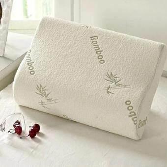 2Pcs 30x50cm Contour Rebound Memory Foam Pillow Bamboo Fiber Health Head Neck Support
