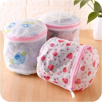 2pcs Clothes Washing Bags Bust Washing Bags For Washing Machine(Pink) - intl