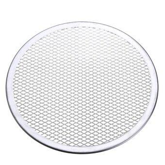 2pcs Seamless Rim Aluminium Mesh Pizza Screen Baking Tray Net Bakeware Cooking Tool 10'' - intl