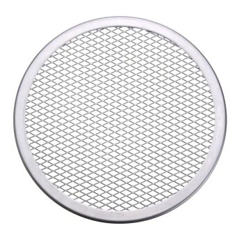 2pcs Seamless Rim Aluminium Mesh Pizza Screen Baking Tray Net Bakeware Cooking Tool 8'' - intl