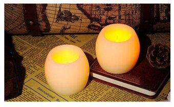 Harga 2pcs Smokeless Paraffin Battery-powered Flameless LED TealightCandles With Warm Color - intl