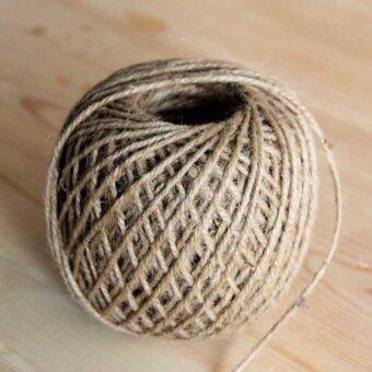 เชือกปอ 30 ม. 1 ม้วน สีธรรมชาติ สำหรับงานศิลปะ ห่อของขวัญเบเกอร์รี่ งานผ้า งานฝีมือ งานตกแต่ง ห่อของขวัญ ซองจดหมายงานประดิษฐ์