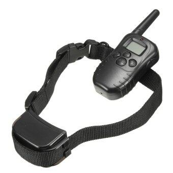 300M Rechargeable 100 Level Shock Vibra Remote LCD Pet Dog Training Collar