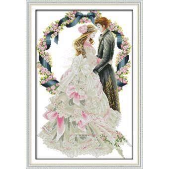 ชุดอุปกรณ์ปักครอสติช ลายวันแต่งงาน #1